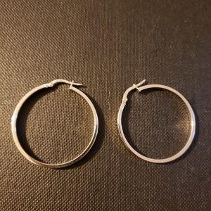 Jewelry - 14k White Gold Hoop Earrings
